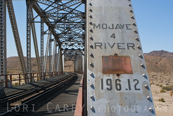 Railroad bridge over the Mojave River in Afton Canyon