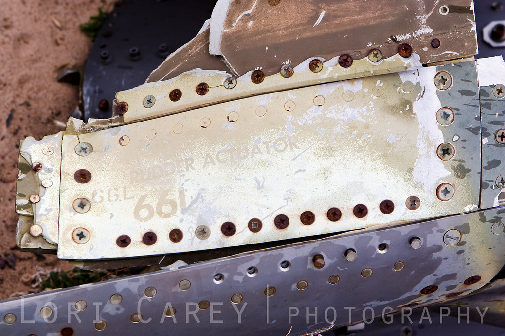 Rudder actuator - wreckage from an F-4D Phantom plane crash in the Crucero region of the Mojave desert over 40 years ago.