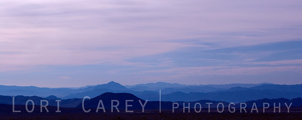 Sunset over Cowhole Mountain, Mojave National Preserve