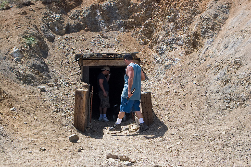 MrBash and his cousin entering the Burro Schmid tunnel