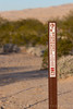 Sign marking Wilderness Boundary at Kelso Dunes, Mojave National Preserve