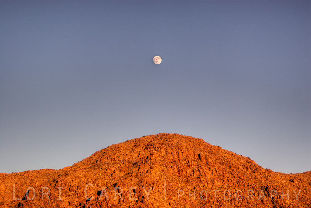 Moonrise over Ivanpah Mountains, Mojave National Park, California