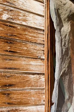 Detail from cabin at Oro Fino/Brannigan Mine in the Mojave Desert