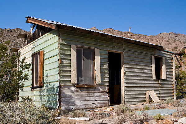 Miner's cabin at the Oro Fino/Brannigan mine in the Mojave desert.