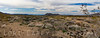 Winter panoramic view of Mojave desert near Cinder Cones and Lava Flows Natural Landmark.