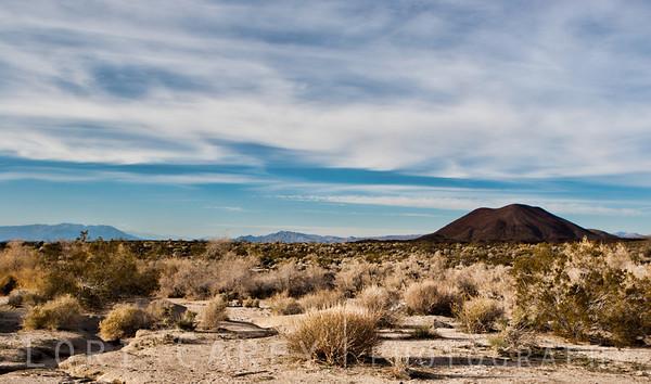 Cinder Cones National Natural Landmark in the Mojave National Preserve, California