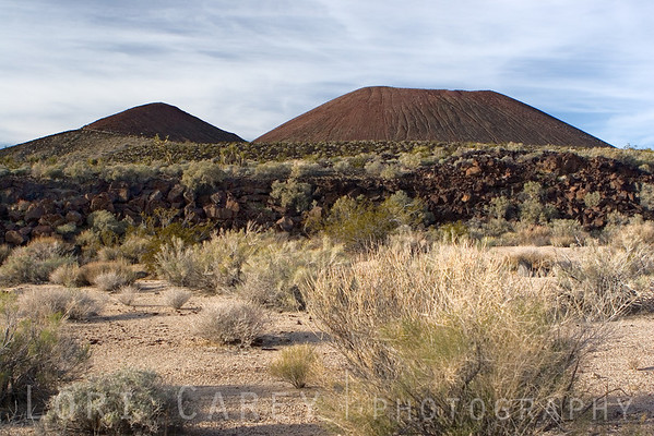 Cinder cones and lava bed in Cinder Cones and Lava Flows National Natural Landmark, Mojave National Preserve
