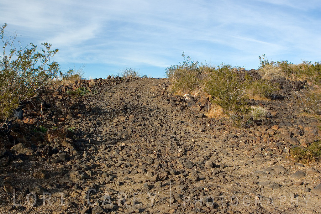 Aikens Mine Road beyond the lava tube. Cinder Cones and Lava Flows National Natural Landmark, Mojave National Preserve