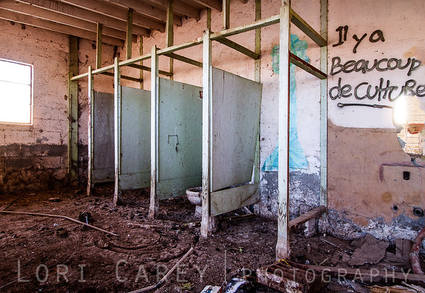 Inside the abandoned mineral spa at the Salton Sea