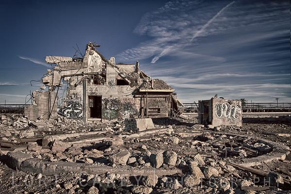 Abandoned building in Brawley, California