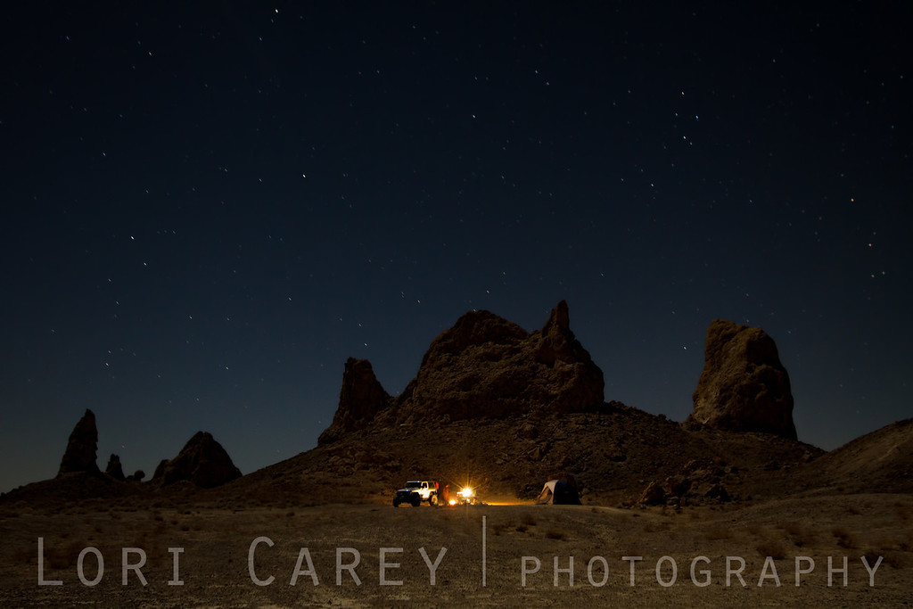 Camping at Trona Pinnacles National Natural Landmark