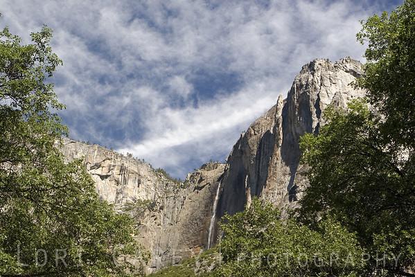 Yosemite Falls viewed from Yosemite Valley