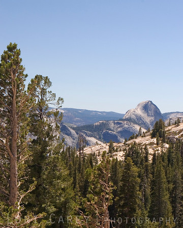 Half Dome viewed from Olmsted Point along the Tioga Pass