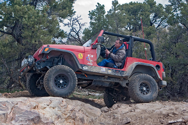 The weather was a little brisk for going doorless, but it makes it so much easier to see the trail. Besides, jeeps look so good without doors!