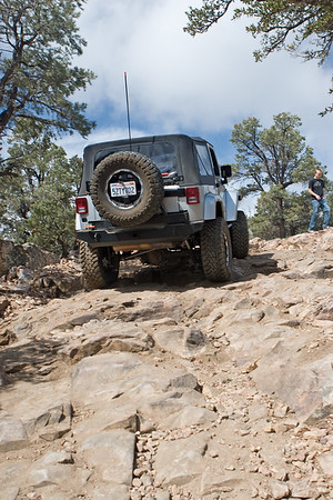 My jeep climbing a hill on the Gold Mountain trail in Big Bear, California