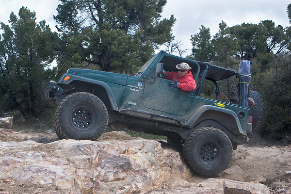 Jeep on Gold Mountain trail in Big Bear, California