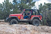 Doorless jeep on Gold Mountain trail in Big Bear, California