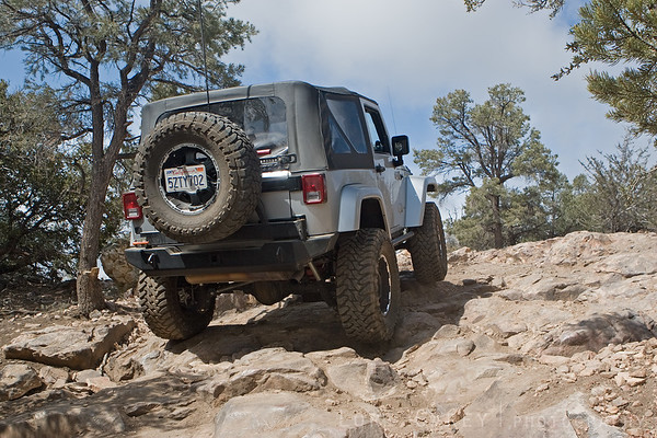 My jeep on the Gold Mountain trail.