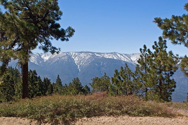 A view from along Skyline Drive in the Big Bear Mountains, California
