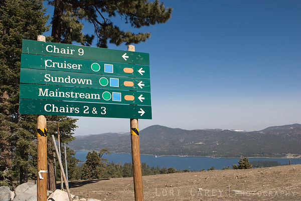 We hiked to the top of the chair lift at the ski resort in Big Bear, where the view overlooks Big Bear Lake