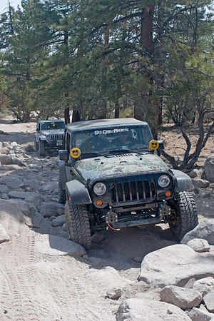Jeep rockcrawling on John Bull trail