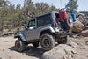 Jeep rock crawling on John Bull