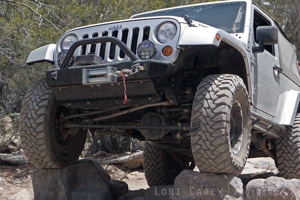 #1 - Jeep crawling through a rock garden on John Bull