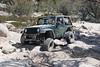 Rockrash's jeep showing some flex on the rocks on John Bull trail
