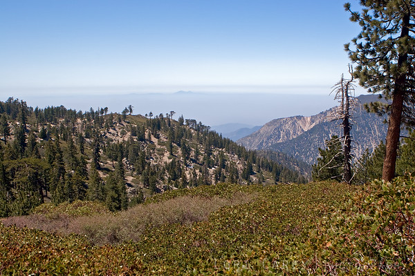 One of the viewpoints along Skyline Drive in Big Bear, California