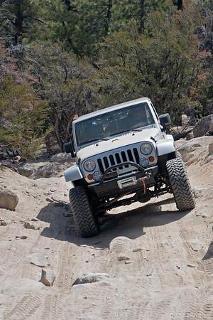 Jeep Wrangler JK on John Bull trail