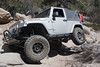 Jeep crawling over rocks on John Bull trail