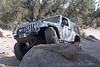 My jeep posing on the rocks on John Bull