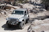 Jeep wrangler JK on John Bull trail in Big Bear mountains, California