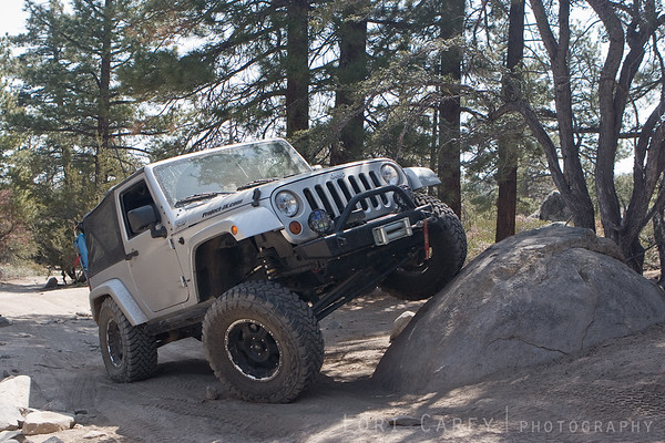 My jeep posing on John Bull trail