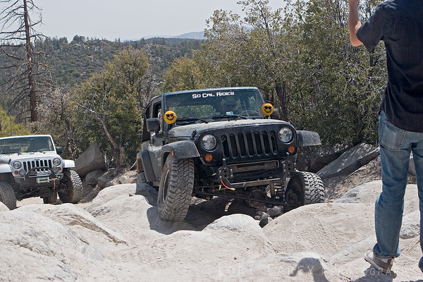 Flexing on the John Bull trail in Big Bear