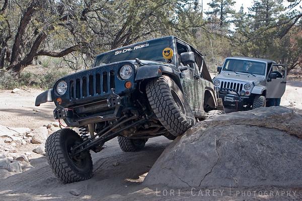 #4 - Jeep posing on the rocks on the John Bull trail in Big Bear, California
