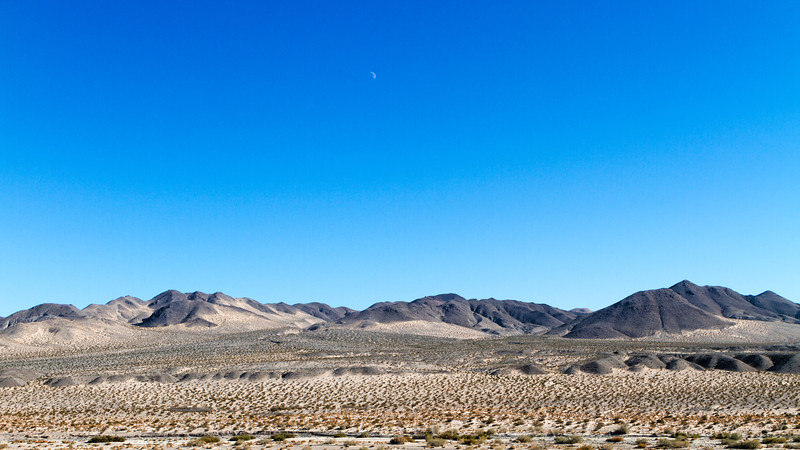 Moon over Manix Wash, Mojave desert