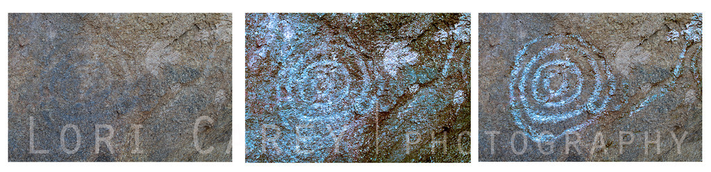 Alabama Hills petroglyphs enhanced using Dstretch