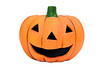 """And they couldn't prevent Jack from feeling happy"" ~ The Who<br /> <br /> Ceramic jack-o-lantern pumpkin on white background"