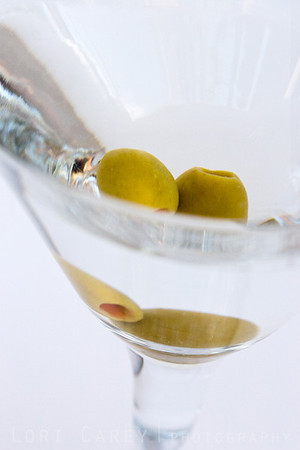 Two olive martini