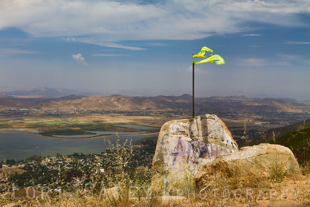 The Santa Ana Mountains overlooking Lake Elsinore are home to a naturally occuring phenomenon known as the Elsinore Convergence. When the cool ocean air meets the warm air of the valley thermals are created, making this a favorite location for hang gliders and parasailers.
