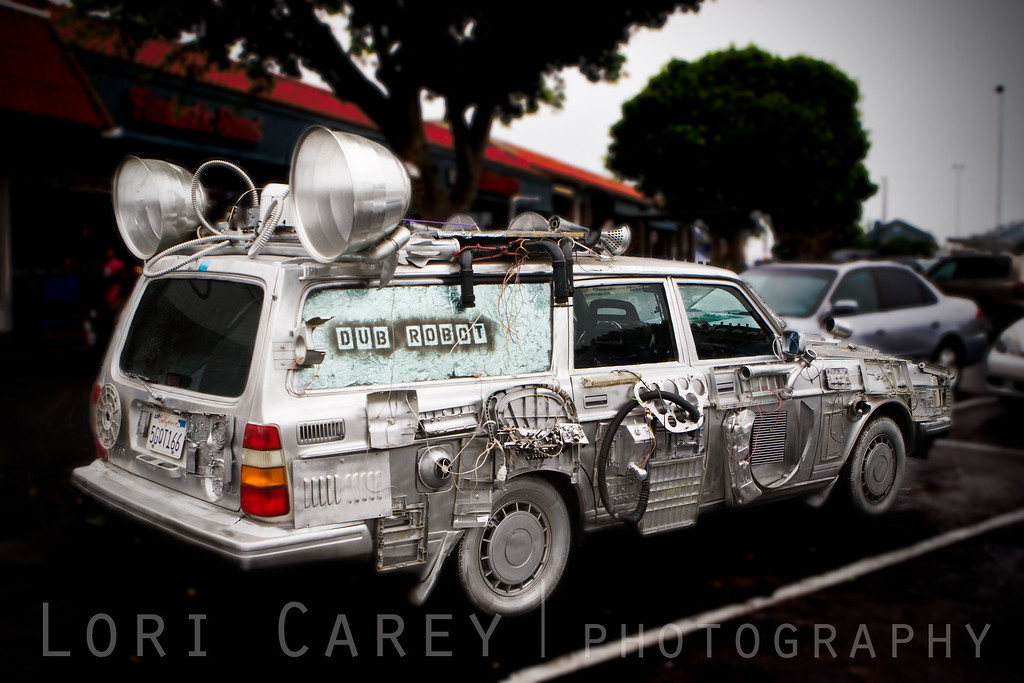 """If I'm going to sing like someone else, then I don't need to sing at all.""  ~  Billie Holiday<br /> <br /> The Dub Robot car. Dub Robot is a reggae/dub/ska band from Atascadero, California."