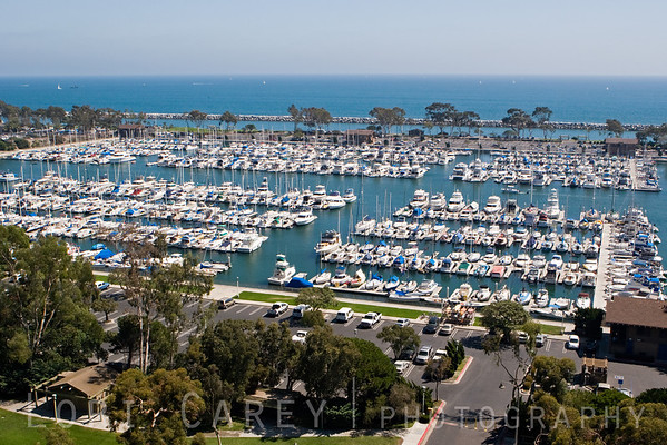 Dana West Marina, one of three marinas in Dana Point Harbor, Orange County, California