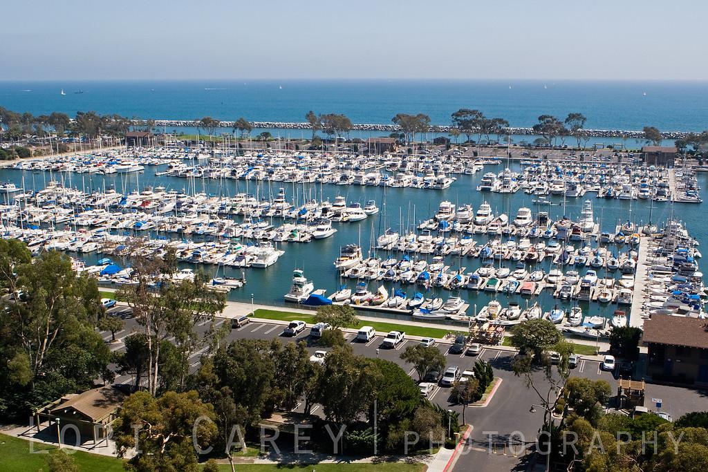 Dana West Marina, one of three marinas in Dana Point Harbor, Orange County, California