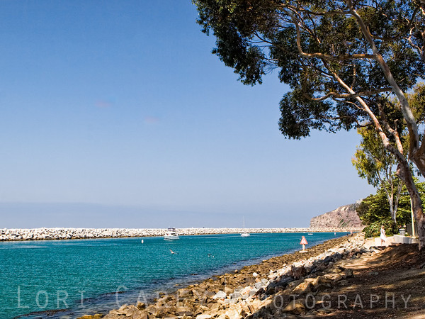 Inlet at Dana Point Harbor in Orange County, California