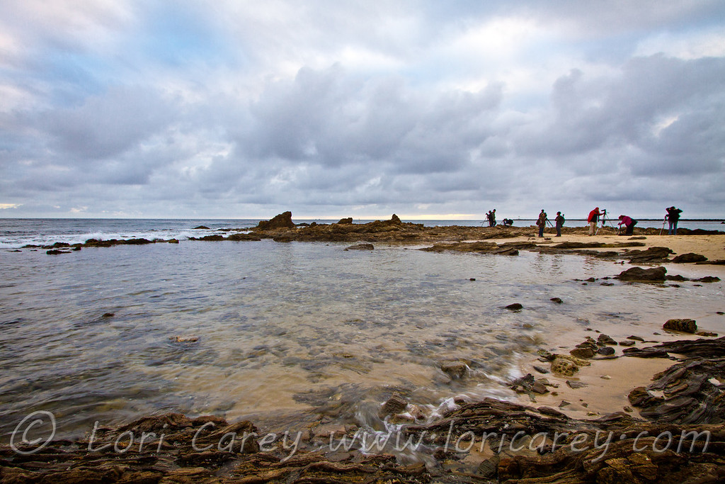 Google+ photographers at Little Corona Beach, Corona del Mar, California