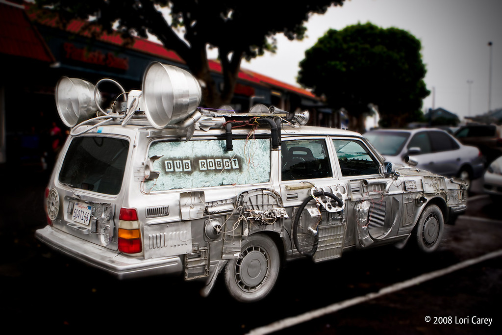The Dub Robot car. Dub Robot is a reggae/dub/ska band from Atascadero, California.
