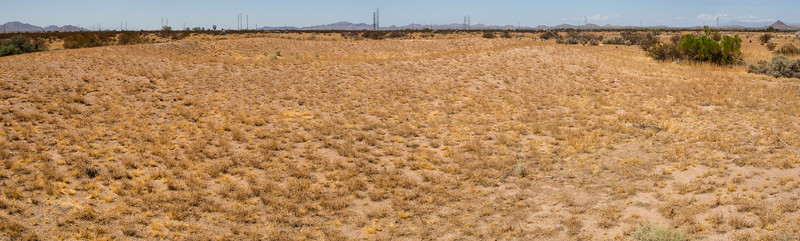 Ball court panorama, Casa Grande National Monument, Pinal County, Arizona