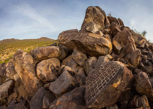 Hohokam petroglyphs, Arizona