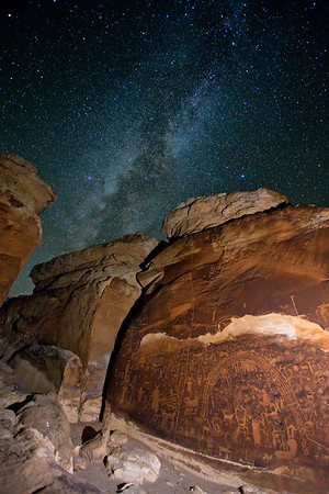Rochester Creek petroglyphs and the Milky Way Galaxy, Utah